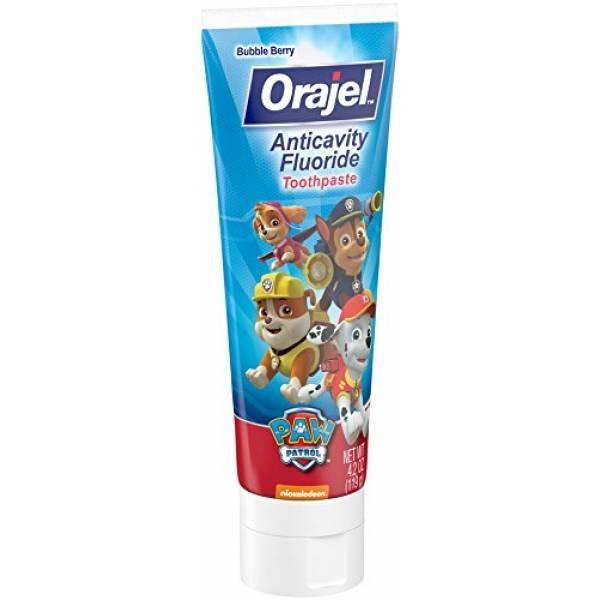 Orajel Paw Patrol Детская зубная паста с фтором щенячий патруль Anticavity Fluoride Toothpaste 4.20 Oz