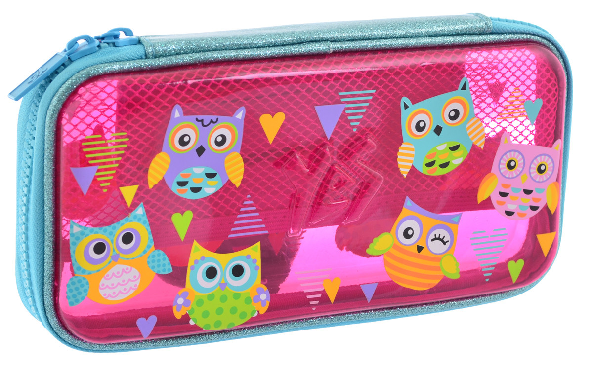 Пенал твердый YES пластиковый 3D HP-07 Funny Owls