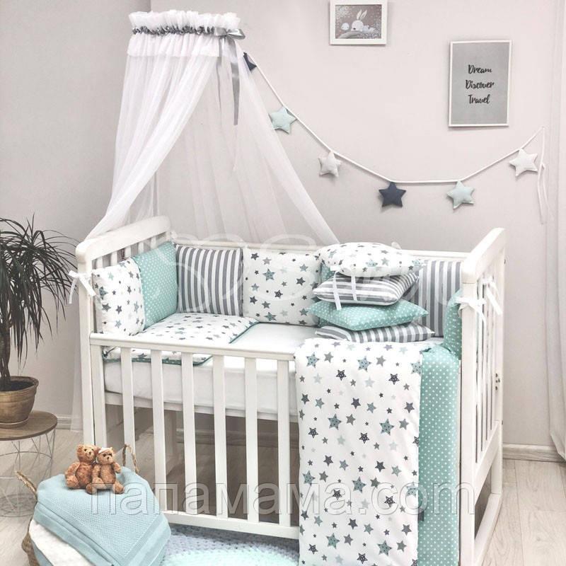 Комплект Baby Design Премиум Stars, мятный