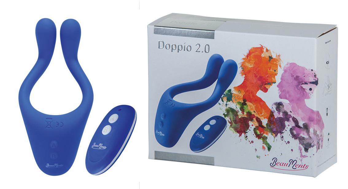 Hi-tech вібратор - BeauMents Doppio 2.0, синій