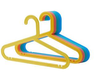 IKEA BAGIS (004.665.98) Детская вешалка 8 шт.