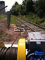 Маневровая лебедка ЛМ-140 с механизмом отключения барабана