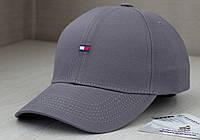 Серая кепка с логотипом Tommy Hilfiger