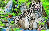 """Схема для частичной вышивки """"Тигрица и тигрята"""""""