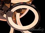 Потолочная люстра с диммером и LED подсветкой, цвет чёрный хром 1811/6BHR LED 3color dimmer, фото 5
