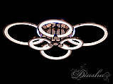 Потолочная люстра с диммером и LED подсветкой, цвет чёрный хром 1811/6BHR LED 3color dimmer, фото 3