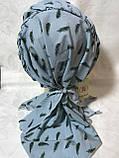 Бандана-шапка-косынка с козырьком и объёмной драпировкой, фото 4