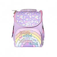 Школьный ортопедический рюкзак для первоклассника SMART PG-11 Unicorn 34х26х11см 10л Фиолетовый (5056137156931)(558047)+Подарок 3 месяца пользования