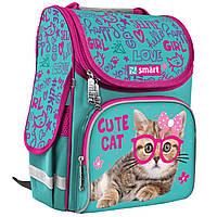 Рюкзак школьный каркасный SMART PG-11 Cute Cat+Подарок 3 месяца пользования приложением Родительский контроль