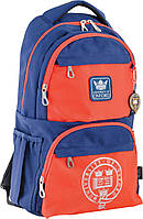 Подростковый рюкзак с боковыми карманами YES OX 233 31х46х17см 24 л Сине оранжевый (554013)