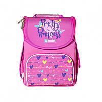 Школьный ортопедический рюкзак для первоклассника SMART PG-11 Pretty Princess 34х26х11см 10л Розовый (5056137156948)(558048)+Подарок 3 месяца