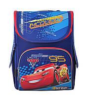 Школьный рюкзак для мальчика каркасный 1 Вересня H-11 Cars 33.5х26х13.5см 12л Синий с красным (5056137119493)(555118)+Подарок 3 месяца пользования