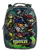 Школьный каркасный рюкзак для мальчика 1 Вересня H-25 Tmnt 35х27х16 см 15л Зеленый (556203)(5056137146161)+Подарок 3 месяца пользования приложением