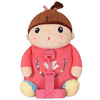 Детский рюкзак кукла для девочки дошкольницы Metoys Розовый 30х24см (47058)