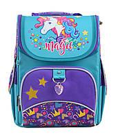Школьный каркасный рюкзак для девочки 1 Вересня H-11 Unicorn 33.5х26х13.5см 12л Разноцветный (555198)(5056137119615)+Подарок 3 месяца пользования