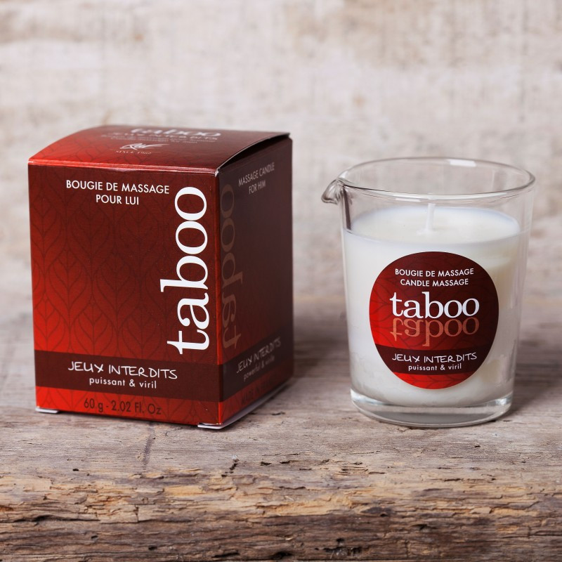 Масажна свічка - TABOO Jeux Interdits, 60 г