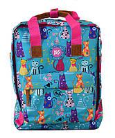 Молодежная сумка рюкзак для девушек YES ST-34 Meow 35.5х27х10.5см 10л Разноцветный (555014)(5056137124077)