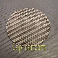 Наклейка для дисков Без логотипа карбон. 65мм. Металл.