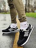 Кроссовки натуральная замша New Balance 574  Нью Беланс, фото 8