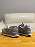 Кроссовки натуральная замша New Balance 574  Нью Беланс (41 последний размер), фото 8