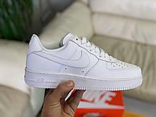 Кроссовки белые низкие натуральная кожа Nike Air Force Найк Аир Форс