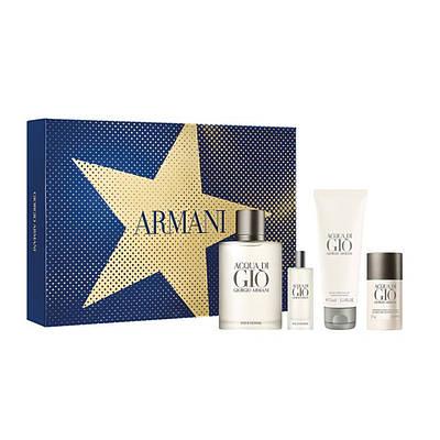 Чоловічий подарунковий набір GIORGIO ARMANI Acqua di Gio Pour Homme, цитрусовий свіжий морський аромат ОРИГІНАЛ