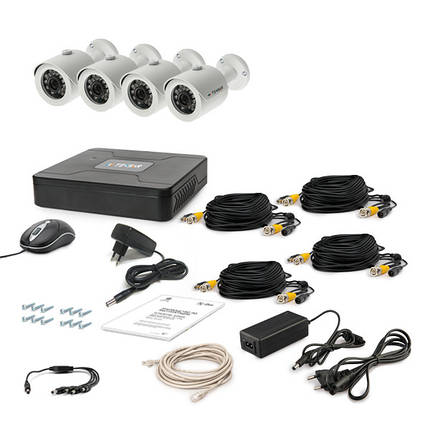 Комплект видеонаблюдения Tecsar 4OUT, фото 2