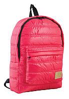 Дутый молодежный рюкзак для девушек нейлоновый YES  ST-15 39х27.5х9 см 10 л Красный (553946)(5060487834319)
