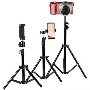 Штатив 160см с держателем для телефона для samsung/iPhone/huawei/Redmi монопод для селфи для смартфона