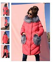 Дитяче зимове пальто з хутряними кишенями на дівчинку Банні