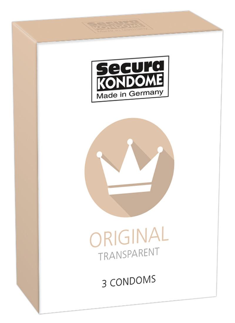 Презервативи - Secura Original, 3 шт.