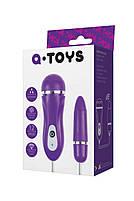 Виброяйцо Toyfa A-Toys, ABS пластик, фіолетовий, ø 1,6 см, фото 2