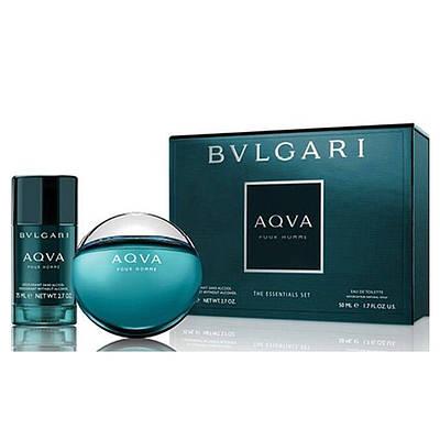 Чоловічий подарунковий набір BVLGARI Aqva Pour Homme туалетна вода 100мл + дезодорант 75мл, цитрусовий морський