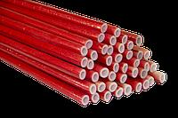 Утеплитель  для труб ламинированный красный, синий. Полиизол. Толщина стенки -6 мм, Ø 15-35 мм