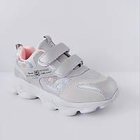 Серебряные кроссовки на высокой подошве от Том.М девочкам, р. 29, 30. Весенние, осенние, деми 30 размер стелька 19,3 см