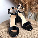 Кожаные босоножки на каблуке Возможен отшив в других цветах кожи и замши, фото 3