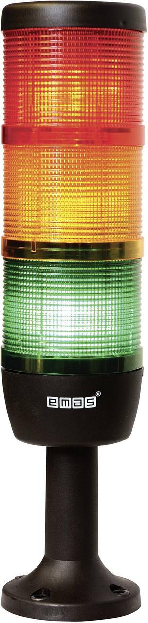 Световая колонна диаметр 70мм 3 яруса (красный, зелёный, жёлтый) светодиод 220В пласт. патрубок 100мм
