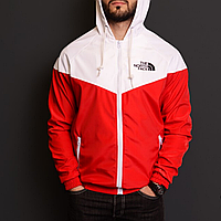 Куртка ветровка мужская красная с белым The North Face