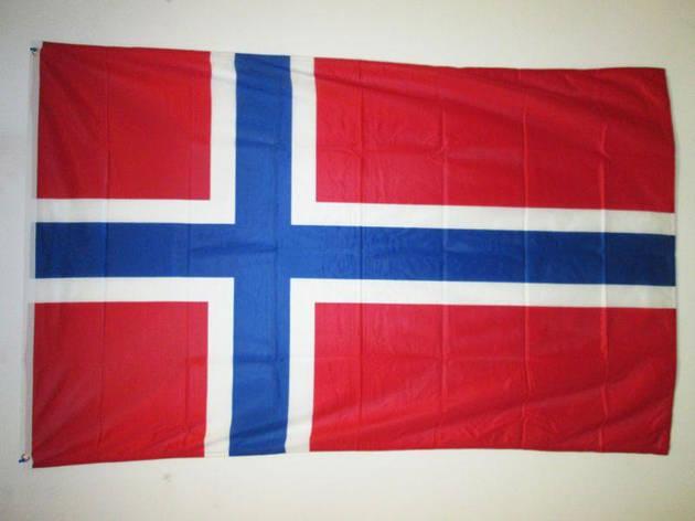 Флаг Норвегии 153см/93см (Новый, в упаковке) Прапор Норвегії, фото 2