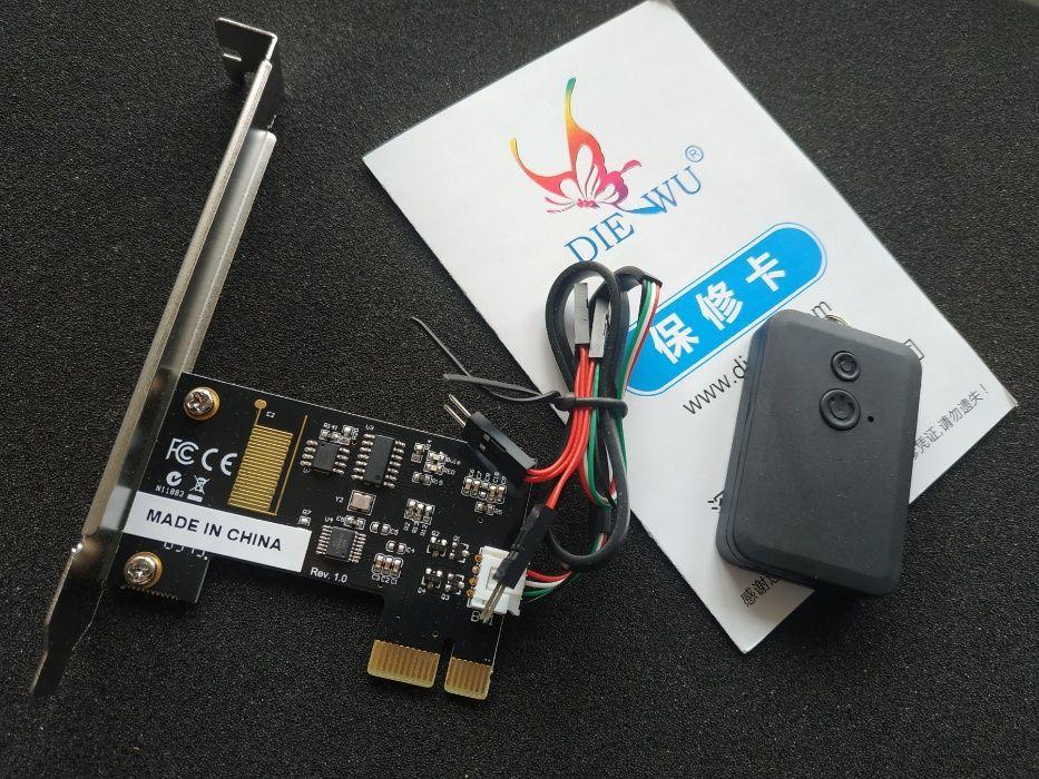 PCI адаптер SilverStone позволяет включать и выключать ПК с пульта ДУ