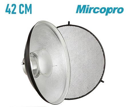 Портретная тарелка Mircopro 42 см с рассеивателем и сотами (Новая), фото 2