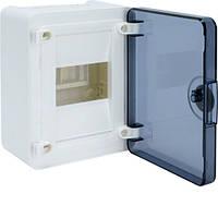 Распределительный щит внешней установки на 4 мод.(1х4), GOLF, с прозрачной дверцей, фото 1