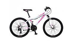 """Велосипед горный алюминиевый Crosser Sweet 24"""" рама 14"""", белый"""