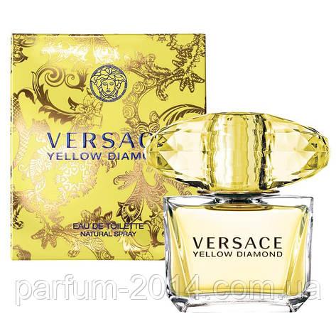 Женская туалетная вода Versace Yellow Diamond + 5 мл в подарок (реплика), фото 2