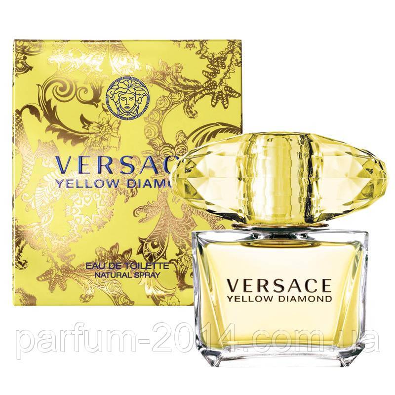Женская туалетная вода Versace Yellow Diamond + 5 мл в подарок (реплика)