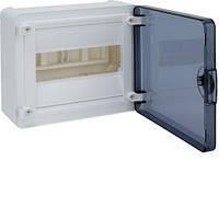 Розподільчий щит зовнішньої установки на 8 мод.(1х8), GOLF, з прозорою дверцятами, фото 1