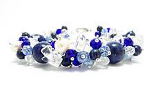 Набор украшений. Серьги, браслет, ожерелье. Микс Лазурит. 12мм, фото 3