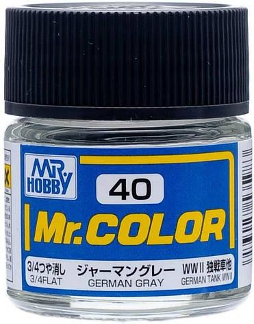Серый немецкий матовый. 10мл. MR.COLOR C40, фото 2
