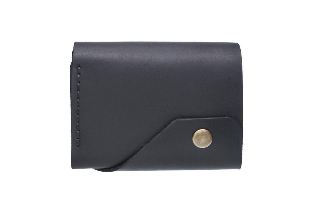 Кожаный женский кошелек Triple черный