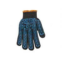 Перчатки Стал черные синий рисунок ПВХ размер 10